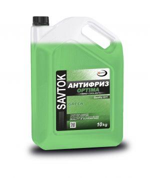 Антифриз SAVTOK OPTIMA G11 зеленый 10кг (прозрачная канистра)