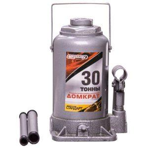 Домкрат бутылочный SKYWAY 30т h 235-445мм (с клапаном в коробке+сумка)