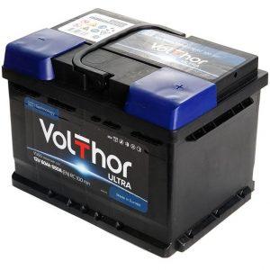 Аккумулятор автомобильный Volthor Ultra 60Ач 550А низкий о/п