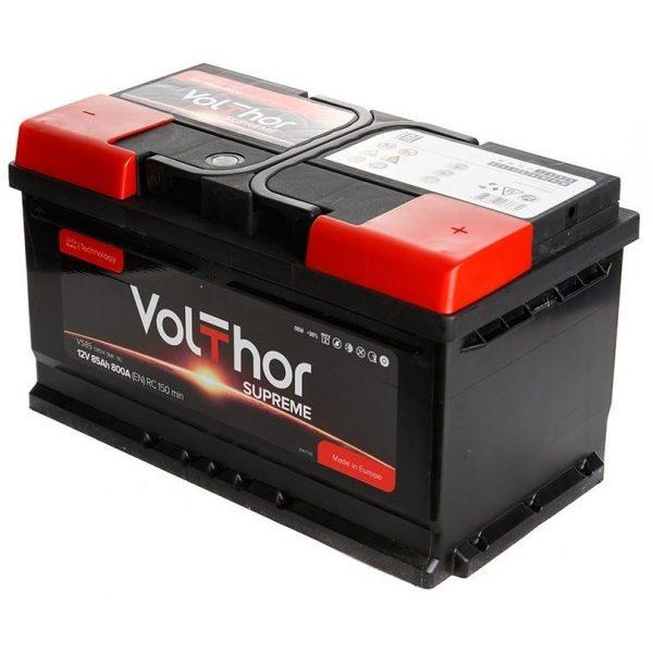 Аккумулятор автомобильный Volthor Supreme 85Ач 800А низкий о/п