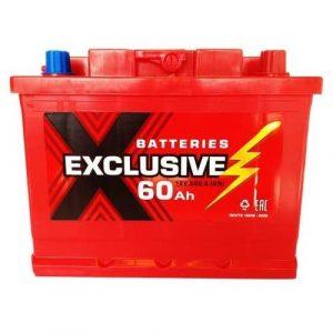 Аккумулятор автомобильный Exclusive 6СТ-60 60Ач 500А о/п