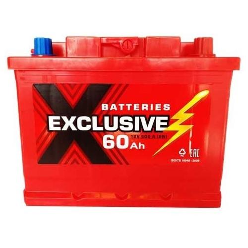 Аккумулятор автомобильный Exclusive 6СТ-60 60Ач 500А п/п