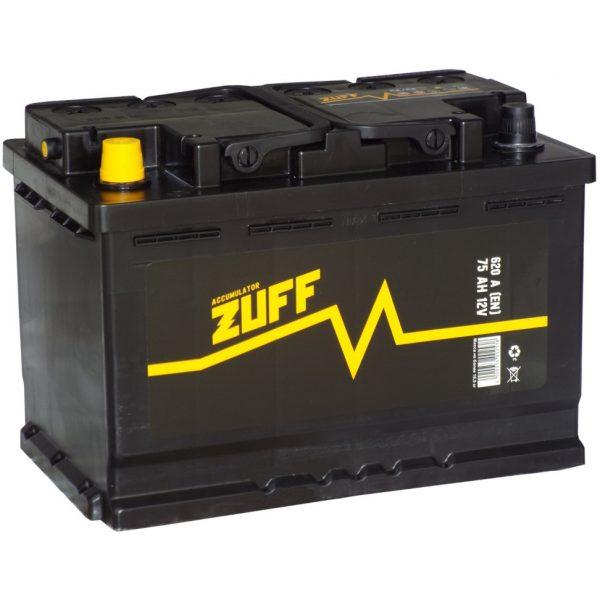 Аккумулятор автомобильный ZUFF 6СТ-75 75Ач 620А п/п