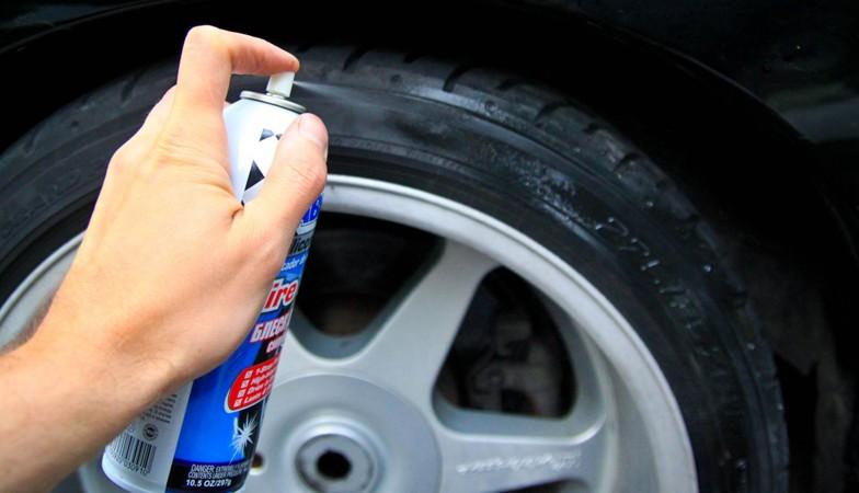 Как чернить шины
