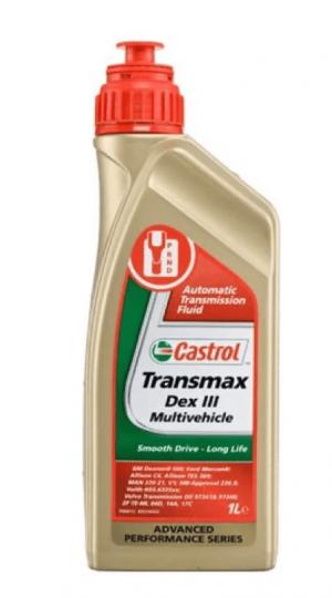 Масло трансмиссионное Castrol ATF Transmax Dex III Multivechicle 1л